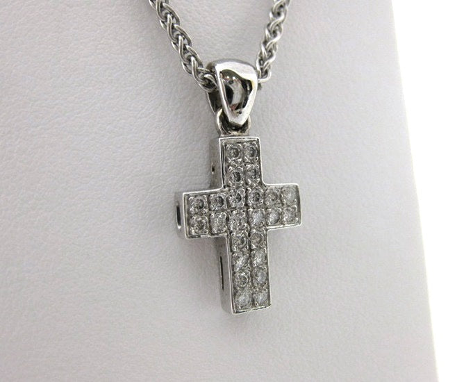 I2575 - 18 Karat White Gold Cross Pendant