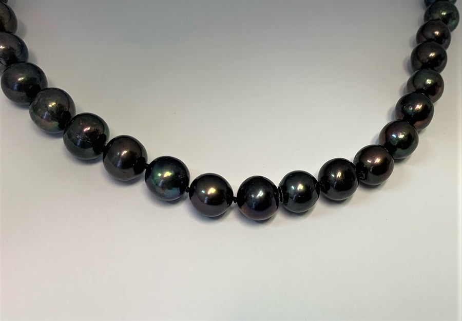 L1463 - Black Pearl Necklace