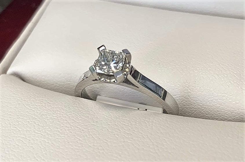 APA4722 - 14 Karat White Gold Engagement Ring