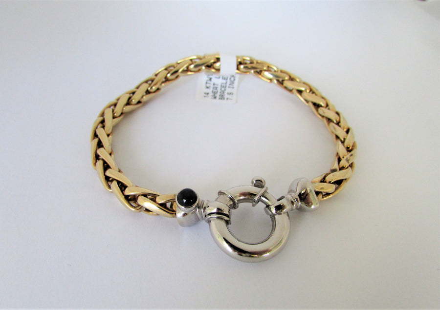 K2495 - 14 Karat Yellow and White Gold Bracelet