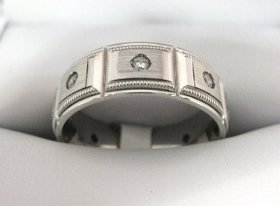 White Gold Men's Wedding Band S170