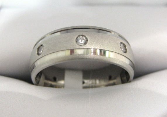 White Gold Men's Wedding Band S462