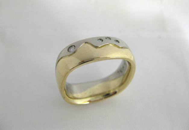 TF7002 - 14 Karat White and Yellow Gold Custom Band
