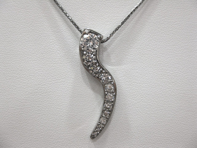 TI6955 - 14 Karat White Gold Custom Pendant