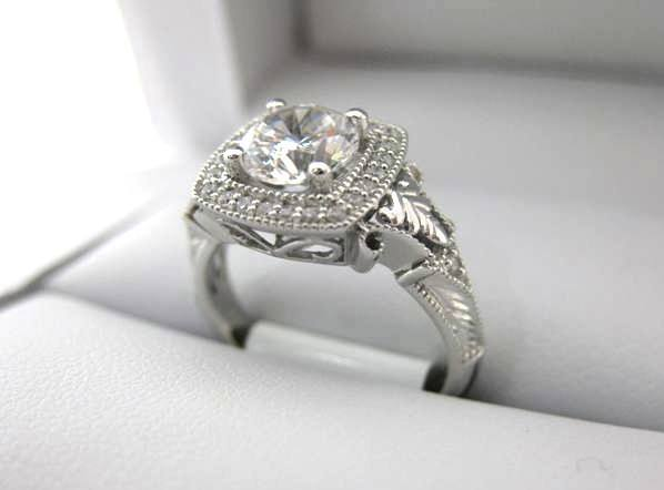 White Gold La Vie Engagement Ring 115003-100