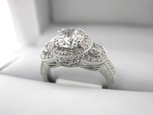 White Gold La Vie Engagement Ring 115088-100