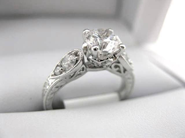 White Gold La Vie Engagement Ring 115154-S