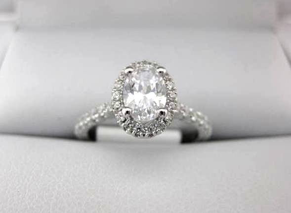 White Gold La Vie Engagement Ring 115217-100