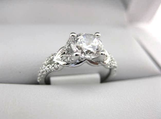 White Gold La Vie Engagement Ring 115252-100