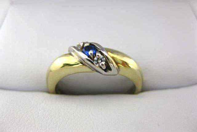Yellow and White Gold Family Ring 2281