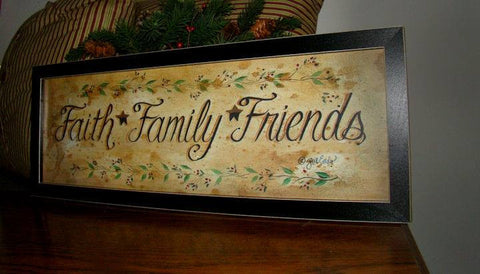Faith Family Friends Framed Art