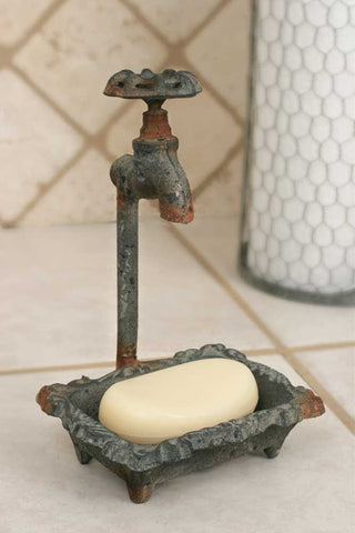 Water Faucet Soap Dish