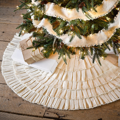 Burlap Creme Tree Skirt