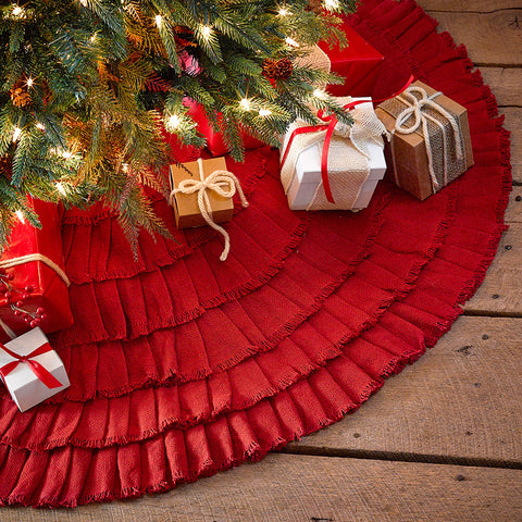 Burlap Red Tree Skirt