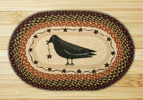 Crow and Star Braided Oval Rug