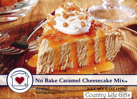 No Bake Caramel Cheesecake Mix