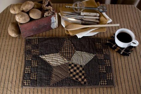 Farmhouse Star Quilted Place Mats