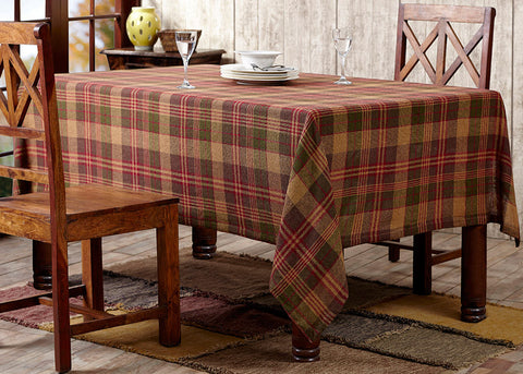Kendrick Plaid Burlap Table Cloth