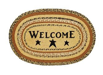 Kettle Grove Welcome Star Jute Rug