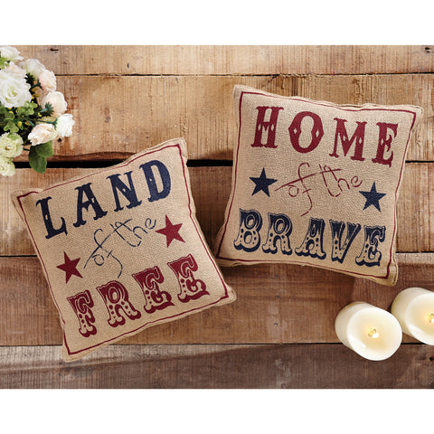Land of the Free Pillow Set of 2