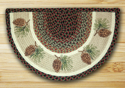 Pine Cone Slice Braided Rug
