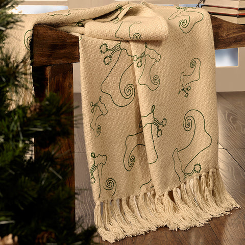 Stockings Woven Throw
