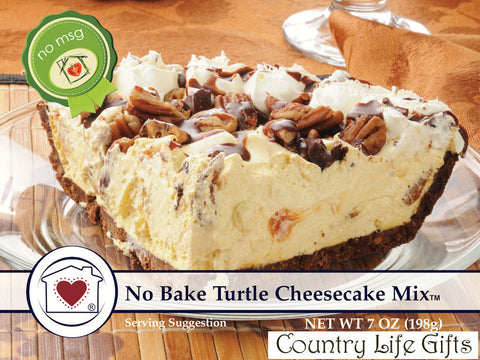 No Bake Turtle Cheesecake Mix