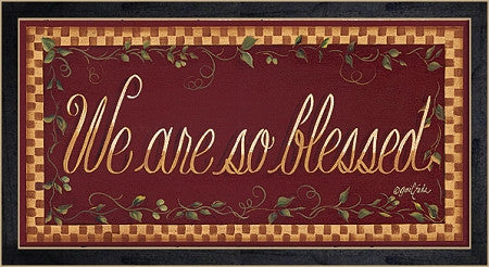 We are so Blessed Framed Print