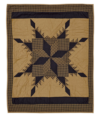 Navy Star Quilted Throw