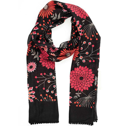 Posy Pop Scarf w/Lace