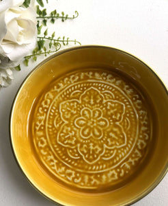 Small Enamel Mustard Tray