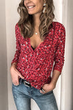 Luluautumn V Neck Lace Button Floral Blouse