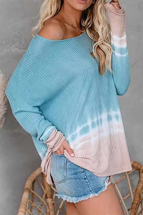 Luluautumn Long Sleeve Off-Shoulder Pullover Knit Top