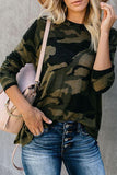 Luluautumn Camouflage Base Long-Sleeved Sweater