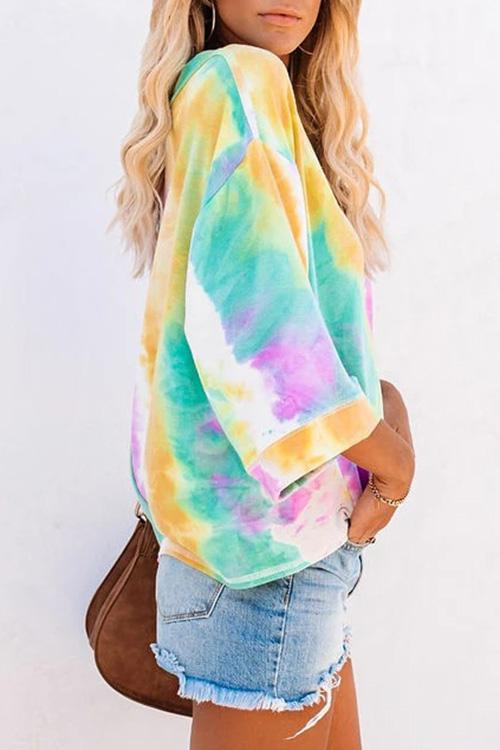 Luluautumn Gradient Tie-Dye Long Sleeve Sweatshirt