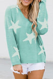 Luluautumn Five-Pointed Star Pullover Commuter Sweater