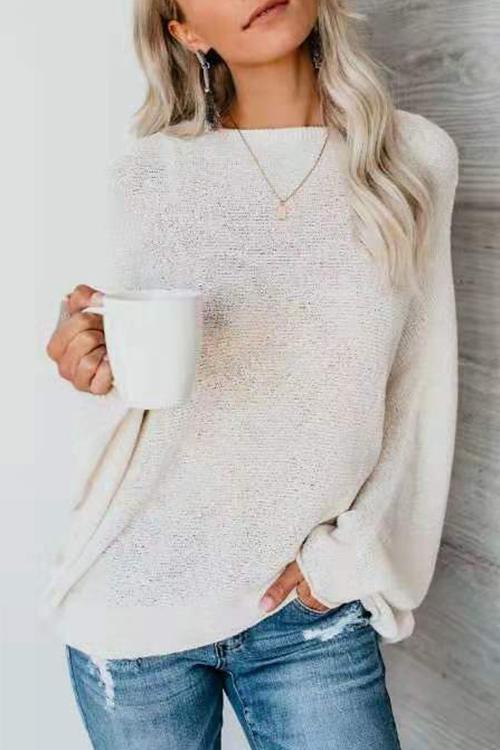 Luluautumn Slanted Shoulder Loose Sweater