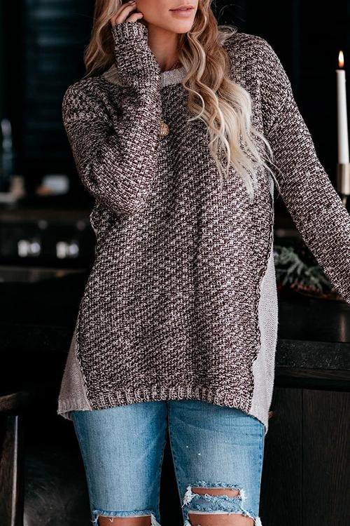 Luluautumn Round Neck Mixed Wool Sweater