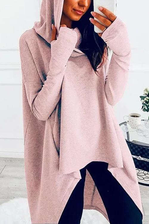 Luluautumn High Low Hem Hoodies Sweatshirts