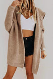 Luluautumn Loose Knit Hooded Cardigan