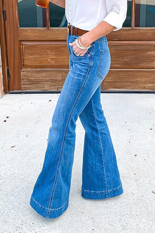 Luluautumn High Rise Slim Flared Jeans