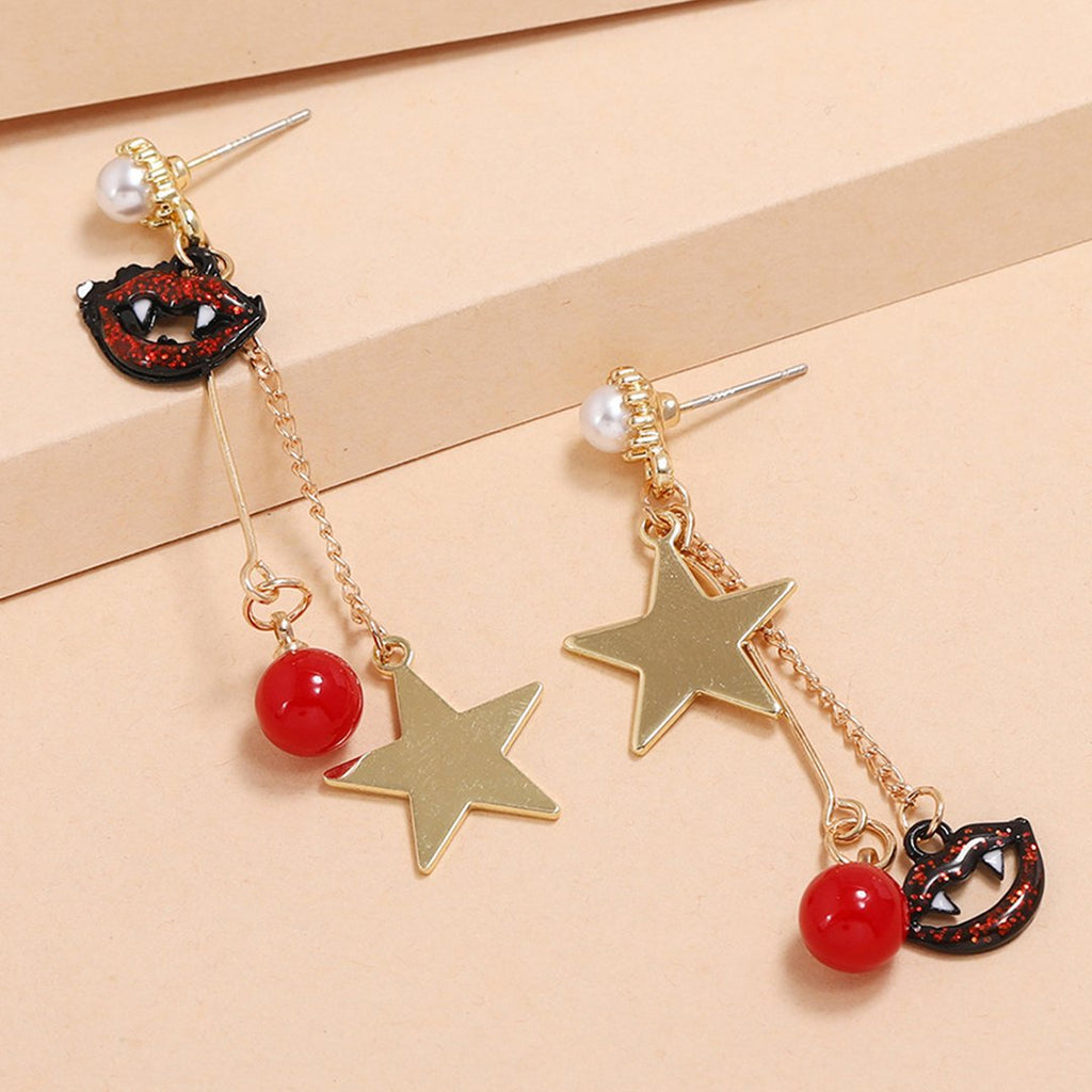 Luluautumn Irregular Tassel Halloween Earrings