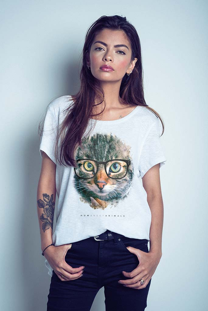 Women's T-Shirt Featuring Relaxed Kittens titled 'Tonite We Take Over the World'