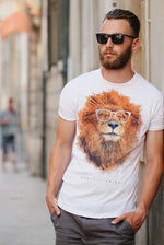 Men's T-Shirt Featuring a Chilled Lion titled 'The Big Chill'