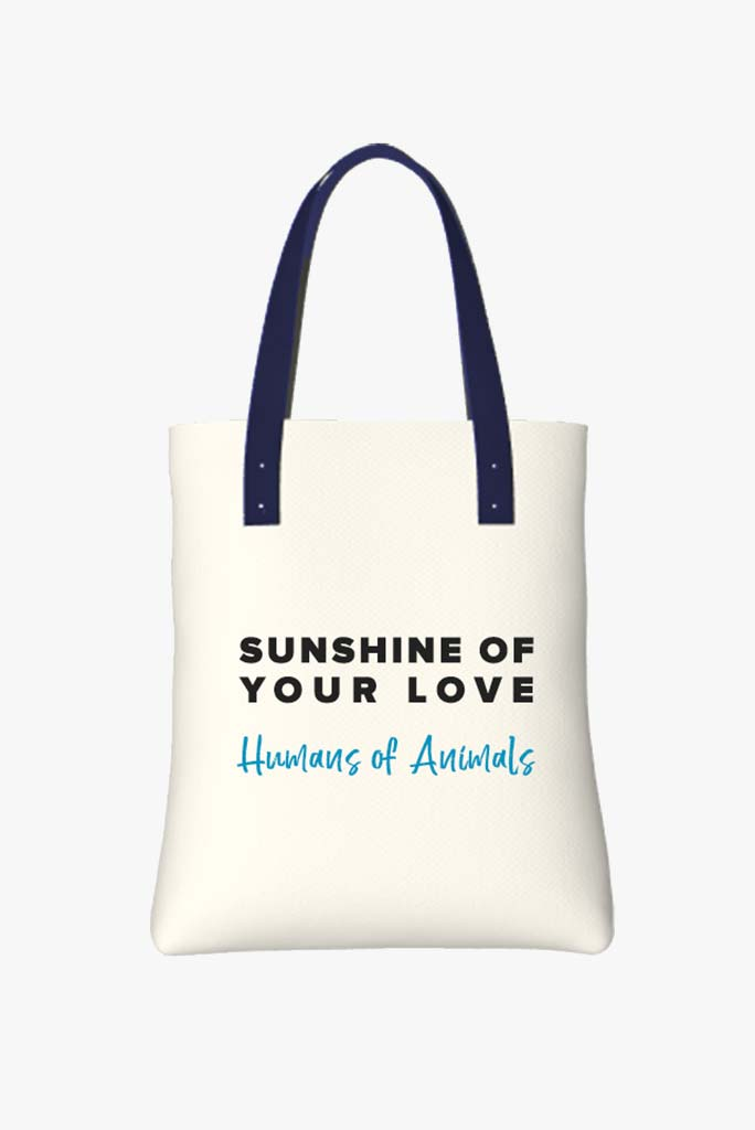 Tote Bag Featuring Polar Bear Swimming With a Big Smile / Back Side