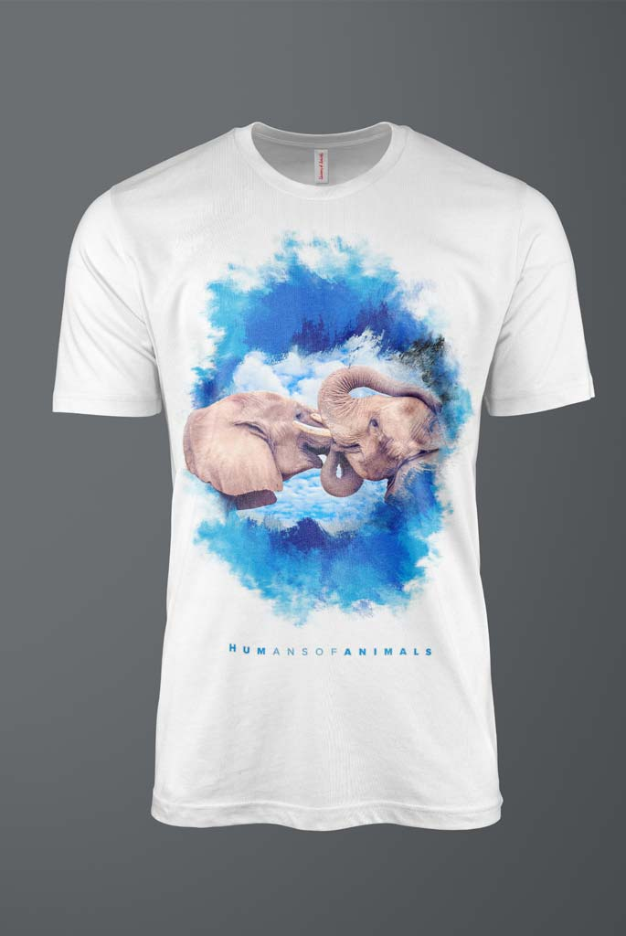 Men's White T-Shirt Featuring Elephant's Kiss titled 'Brain Likes Cookies'