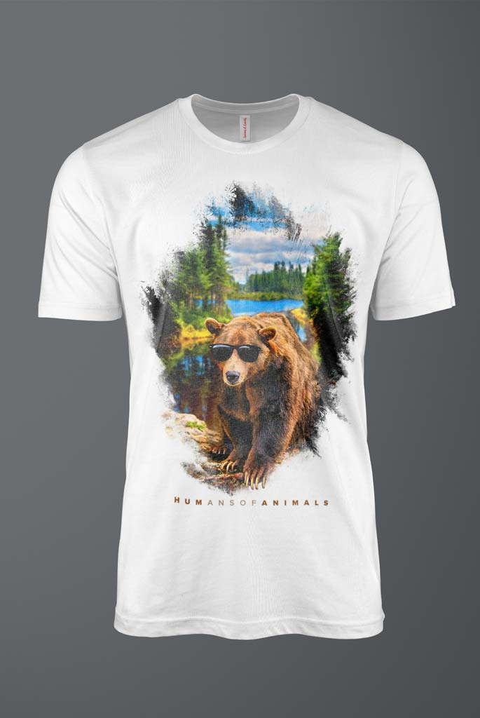 Men's T-Shirt Featuring a Grizzly Bear titled 'Take Me Out Tonight'