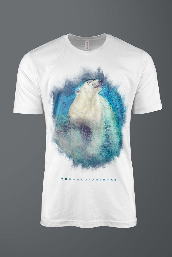 Men's T-Shirt Featuring a Polar Bear Swimming named 'Sunshine of Your Love'