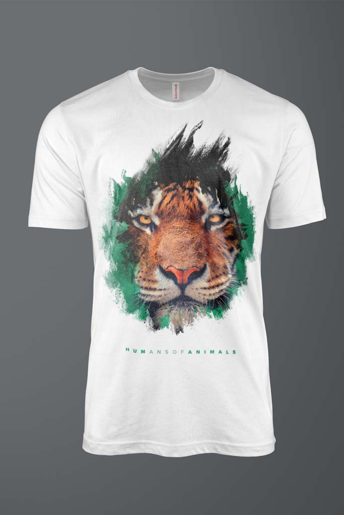 Men's T-Shirt Featuring a Fierce Tiger titled 'The Best Way to Live Is Not to Die'