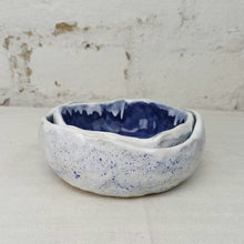 Load image into Gallery viewer, 2 handmade blue bowls set serving